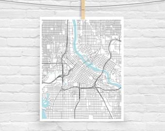 Minneapolis map Etsy