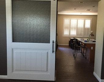 Rain Glass Door