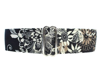 1.5 Inch Martingale Collar, Black Martingale Collar Greyhound, Floral Martingale Collar, Black Martingale Collar, Floral Dog Collar