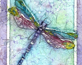 Batik Art,Dragonfly Art,Dragonfly Prints,A Dragonfly Painting, Watercolor Paintings,  Watercolor Painting, Wall Decor, Wall Art Painting,