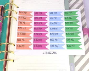 Blog Post vinyl planner stickers; Filofaxing; Erin Condren; Cute Stickers; Inkwell Press; Plum Paper; Kawaii Stickers; Flag stickers