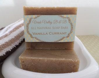 Vanilla Currant Soap, Vanilla Currant Bar Soap, Vanilla Currant Soap Bar, Vanilla Currant Bath Soap, Handmade Soap, Natural Soap, Vegan Soap