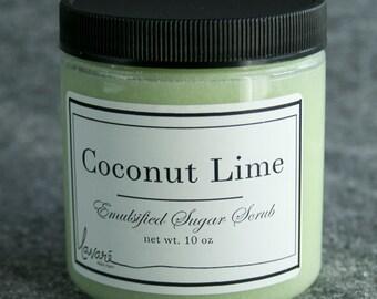 Coconut Lime Sugar Scrub, Natural Sugar Scrub, Scrub, Body Scrub, Body Polish, Hand Scrub, Sugar Scrub, Natural Scrub, Exfoliating Scrub