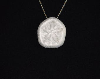 Delicate Sand Dollar pendant with .925 silver necklace, mermaid jewelry, beach chic, beach jewelry, resort wear, coastal style, beach style