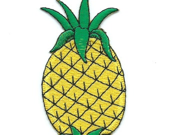 Pineapple Iron On Patch Embroidered Applique