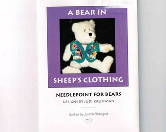 1994 Needlepoint For Bears, A Bear In Sheep's Clothing, Cross Stitch Designs By Judi Kauffman, Sea Jewels, In The Valley, Vest Pattern Piece