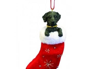 Labrador Retriever Black Santa's Little Pals Dog Christmas Ornament
