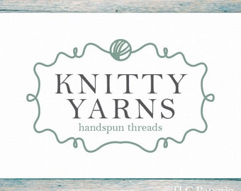 Crochet Logo, Knitting Logo, Crafting Logo, Custom Logo, Business Logo, Premade Logo Design, Custom Logo, Yarn Logo