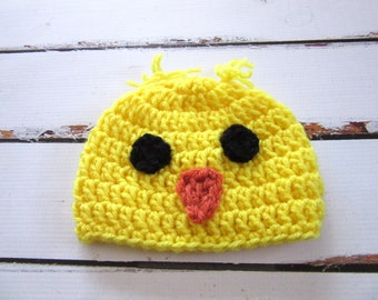Baby Chick Hat, Crochet Baby Hat, Baby Chicken Hat, Baby Animal Hat, Baby Bird Hat, Baby Boy Hat, Baby Girl Hat, Baby Easter Hat Baby Beanie