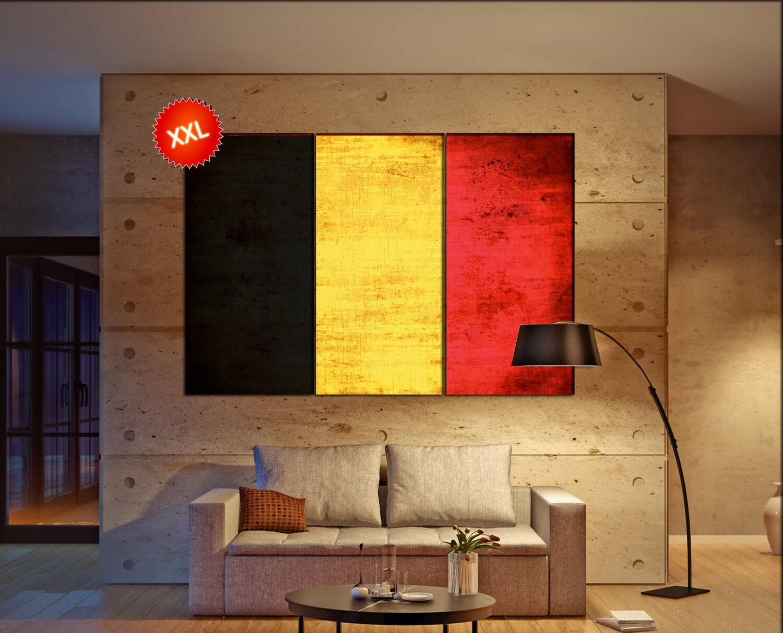 Belgium flag canvas wall art art print large canvas wall art