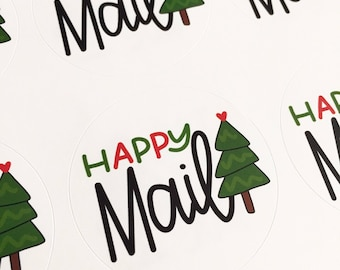 BUNDLE ot stickers. CHRISTMAS Stickers, Happy Mail stickers, Packaging Stickers, Labels, merry christmas Stickers, labelling sticker