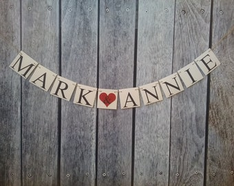 couples names banner etsy