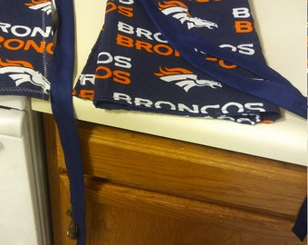 Denver Broncos apron ready to ship or made to order