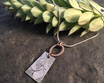 Voila Short Necklace  ~ Gingko Leaf