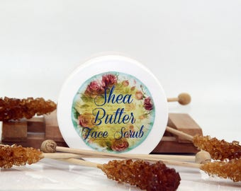 Shea butter face scrub