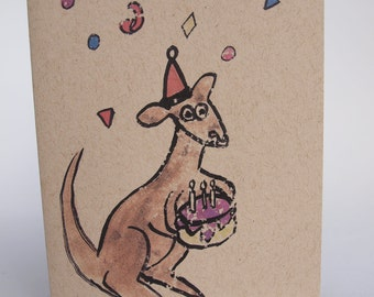 Greeting Card - Roo Cake