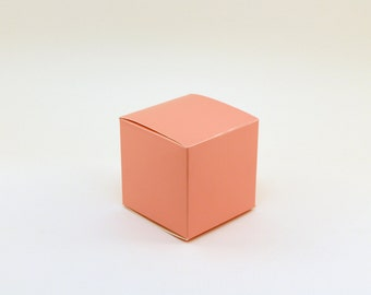 Pink Favor box, Small favor boxes, 3x3x3, pink wedding favor boxes, pink treat boxes, goodie bag, pink candy buffet box, pink party boxes