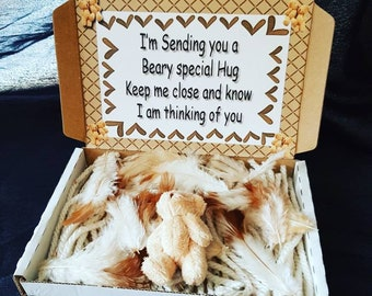 A Cute Bear Hug & Message In a Box Personalised