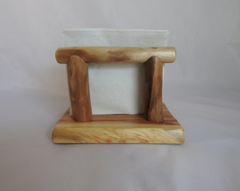 Napkin Holder - Paper Napkin Holder - Wood Napkin Holder - Aspen Log Napkin Holder No4 - Rustic Napkin Holder - Paper Napkin Storage -