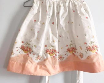 Handmade Cotton Apron Vintage Fabric Retro Half Apron