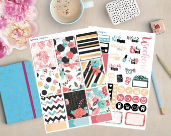 Rose Gold Mini Planner Sticker Kit