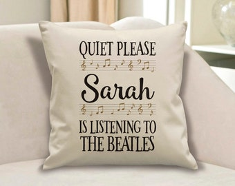 Personalised Beatles Cushion. Beatles gift. The Beatles gift. Personalised Beatles present. Beatles Present