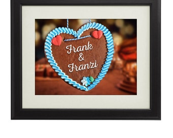 German Gingerbread Heart – Personalised Picture - Christmas Gift