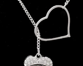 Heart Crystal Nana Grandma Gift Y Lariat Necklace