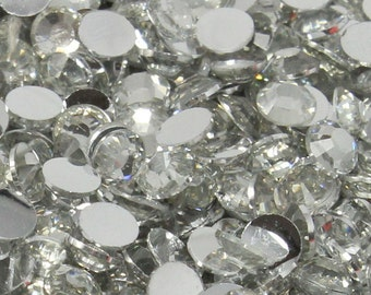 USA 1000 4mm Crystal Clear Flatback Resin High Quality Rhinestones ss16 14 Facets DIY Deco Bling Nail Art Craft Scrapbooking Embellishments