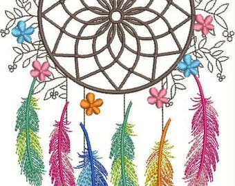 Embroidery Design, дизайн вышивки, on clothing, на одежде, Dreamcatcher, ловец снов, feathers, перья, mandala, мандала, spiderweb, amulet