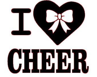 I love cheer SVG file