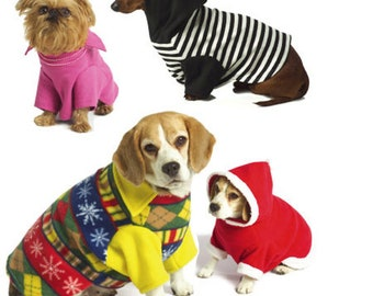 Dog Coats Pet Pullovers Dog Ulgy Sweaters Dog Hoodie OOP Sewing Pattern McCalls 5544 One Size Uncut