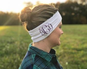 Personalized ear warmer, headband, fleece headband, monogram ear warmer, fleece ear warmer, ear warmer