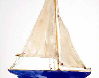 Pond Yacht. Digital print.