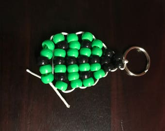 Beaded green ladybug pet