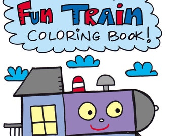 PDF The Happy Fun Train Coloring Book Printable