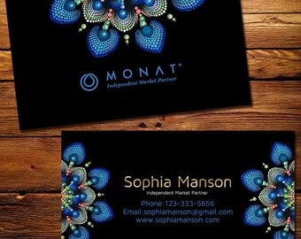 Monat Business Cards, Fast Free Personalization and Change, Digital Business Cards, Monat Business Card, Marketing Business card