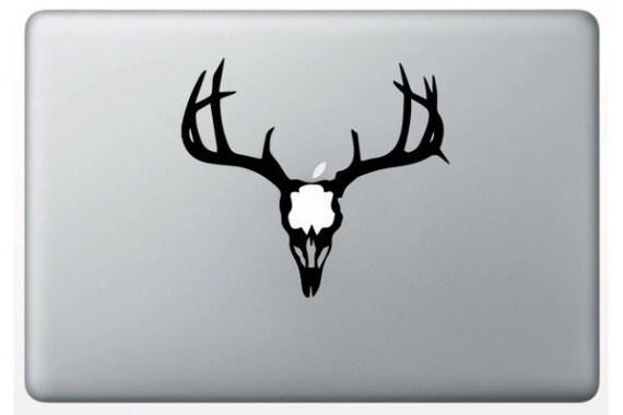 Sticker deer skull deer for macbook decals for macbook pro air