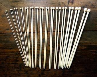 13 1/2 Inch Bamboo Knitting Needles - Size 11