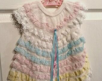 Lovely lace knit festive dress.