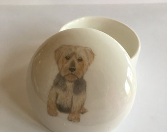 Small Yorkshire Terrier Trinket Box