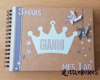Little prince theme guest book, Crown