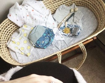 Bassinet Sheet -Cradle sheet /PacknPlay Sheet /Moses Basket Bedding /Portable Crib Bedding /4moms Play Yard Sheet Custom Baby Bedding Mini