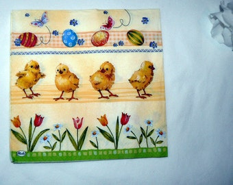 2 chicks images Napkins from Germany