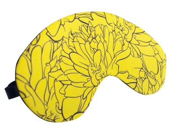 Yellow Marigold Sleep Mask - Canvas, A Great Gift for Easter, Mother's Day, Gift for Her, Gift for Him Girlfriend, Boyfriend, Birthday