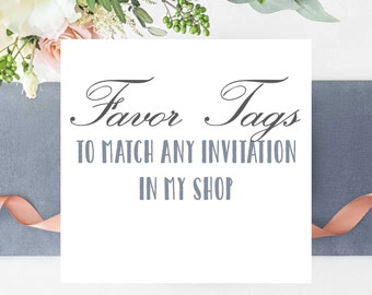 Favor Tags to Match any Card in My Shop