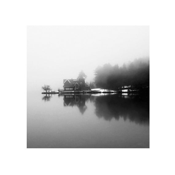 Items similar to black and white photography lake photography landscape fog photography lake decor art photography home decor grey decor 8 x 8 inch on