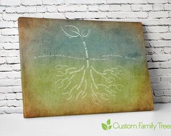 These Roots Run Deep - custom family tree art