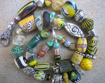 AFRICAN TRADE BEAD bracelet wrap bracelet vintage African boho chic