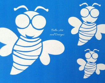 List 1 - Assorted Bee stencils *Free gift with every order*